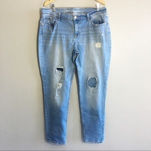 Old Navy Boyfriend Skinny Jeans Ripped Destructed